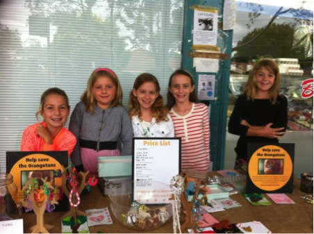 Fundraising by Year 4 girl for orang-utans